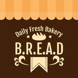 Ежедневная свежая хлебопекарня b r e A Вектор предпосылки d Стоковое Изображение