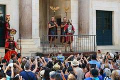 Ежедневное представление в дворце ` s Diocletian, разделение, Хорватия Стоковое Фото