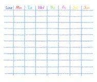 Ежедневно, дневник и еженедельное расписание вектора плановика бесплатная иллюстрация