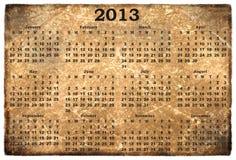 Ежемесячный календар 2013 Стоковое Фото