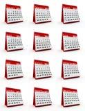 ежемесячный календарь 2014 Стоковое фото RF