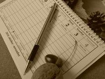 Еженедельный план стоковые фотографии rf