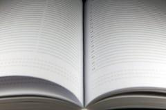 Еженедельник с striped листами Стоковые Фотографии RF