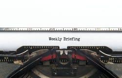 Еженедельный брифинг Стоковое фото RF