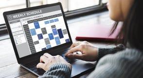 Еженедельный план-график для того чтобы сделать концепцию назначения списка стоковые фото