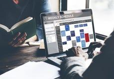 Еженедельный план-график для того чтобы сделать концепцию назначения списка стоковое фото
