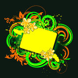 еженощное знамени флористическое Стоковое Изображение