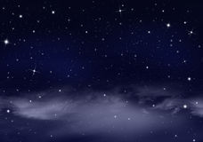 Еженощное небо с звездами Стоковая Фотография