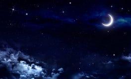 еженощное небо Стоковое Изображение
