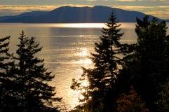 еженощный взгляд океана Стоковое Фото