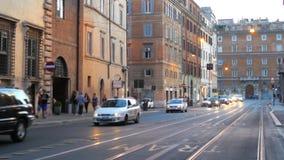 ежедневная жизнь Рима, Италии, 4k видеоматериал