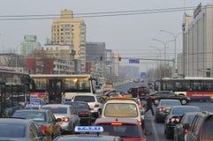 Ежедневная жизнь - час пик Пекина Стоковые Изображения RF