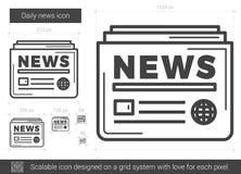 Ежедневная линия значок новостей Стоковая Фотография