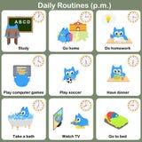 Ежедневные режимы на p M лист - Рабочее лист Стоковые Фотографии RF