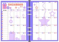 Ежедневный плановик декабрь 2017 бесплатная иллюстрация