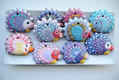 Еж, печенья рождества для детей Стоковая Фотография