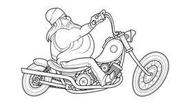 Езда велосипедиста на мотоцикле головка дерзких милых собак персонажа из мультфильма предпосылки счастливая изолировала белизну у бесплатная иллюстрация