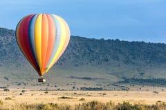 Езда воздушного шара над Masai Mara Стоковые Фото