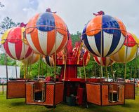 Езда воздушного шара на масленице Стоковое Изображение RF