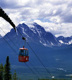 езда горы гондолы alberta banff Канады утесистая Стоковые Изображения