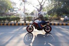 Езда Индия дня республики Ducati стоковое фото rf