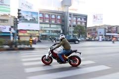 Езда Индия дня республики Ducati стоковое изображение rf
