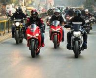 Езда Индия дня республики Ducati стоковые изображения