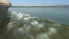 Езда шлюпки на Дунай видеоматериал