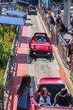 Езда Autopia на Диснейленде стоковое фото rf