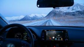 Езды автомобиля дороги горы акции видеоматериалы