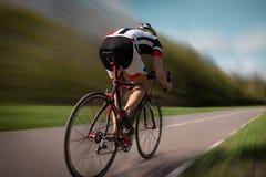 Езды на велосипеде, влияние велосипедиста скорости Стоковые Фото