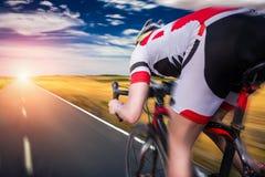 Езды на велосипеде, влияние велосипедиста скорости Стоковое Фото