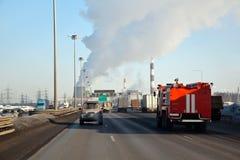 езды пожара двигателя звонока Стоковая Фотография RF
