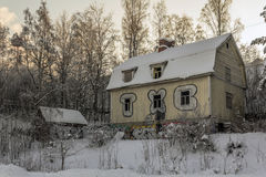 дезертированная дом Стоковые Изображения RF