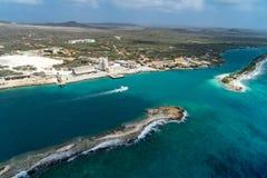 Езда вертолета - залив Curacao Fuik Стоковое Изображение