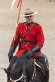 Езда в Ancaster, Онтарио RCMP музыкальная Стоковые Фотографии RF