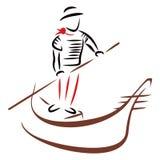 Езда гондолы иллюстрация вектора