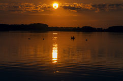 Езда захода солнца Стоковые Изображения RF