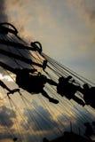 Езда качания ярмарочной площади Стоковое Фото