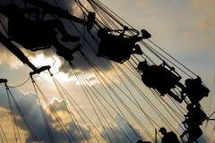 Езда качания ярмарочной площади Стоковая Фотография RF