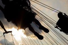 Езда качания ярмарочной площади Стоковое Изображение RF