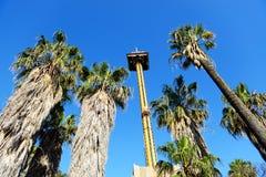 Езда кондора Hurakan в тематическом парке Aventura порта Стоковая Фотография RF
