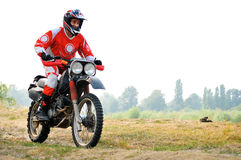 Езда мотоцикла Стоковое фото RF