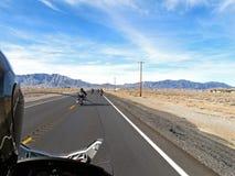 Езда мотоцикла Стоковое Изображение