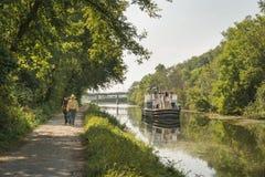 Езда шлюпки на канале Иллинойса и Мичигана стоковая фотография rf