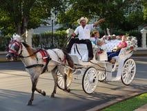 Езда экипажа в Мериде Юкатане Стоковое Изображение