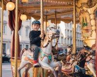 Езда Carousel Стоковые Изображения RF