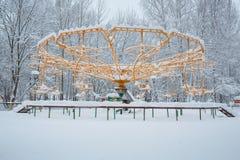 Езды в снеге стоковая фотография rf