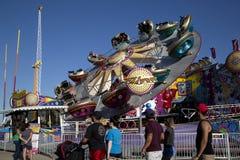 Езды острых ощущений на ярмарке положения Техаса Далласа стоковое фото rf