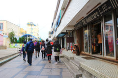 3-ей chau 2010 cheung Hong Kong -го село фото в декабре главной принятое улицей стоковые фото